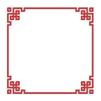 Cadre de frontière chinoise 3d