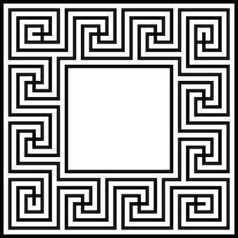 Cadre de frontière clé grecque vecteur géométrique abstrait