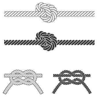 Cadre de frontière de corde vintage en vecteur