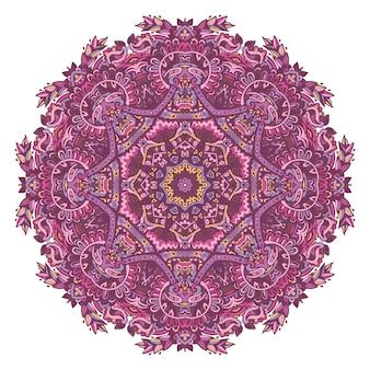 Cadre frontière décoratif rosette assiette décor médaillon cachemire floral