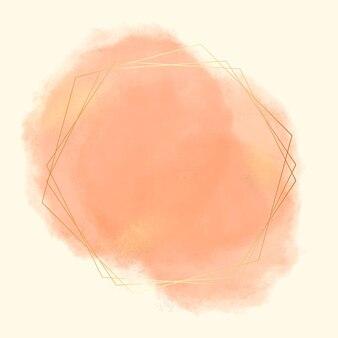 Cadre géométrique aquarelle abstrait