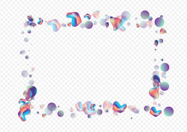 Cadre géométrique bulle holographique liquide irisé