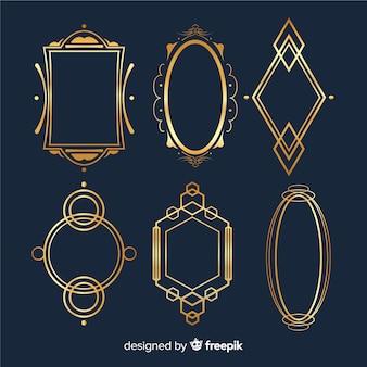 Cadre géométrique doré