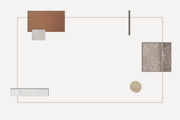 Cadre géométrique moderne sophistiqué
