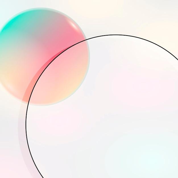 Cadre géométrique rond coloré