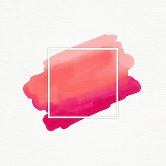 Cadre géométrique avec tache aquarelle