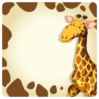 Cadre girafe avec animal