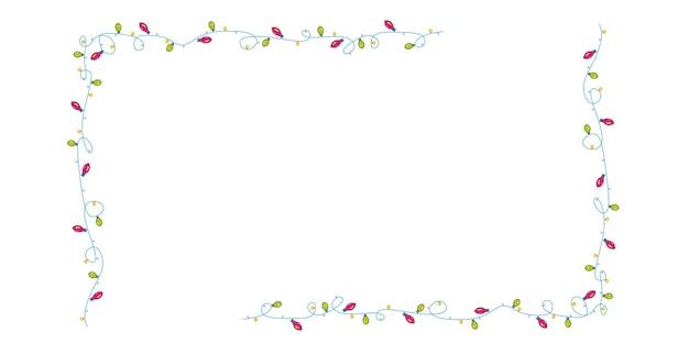 Cadre de guirlande vectorielle pour une ambiance festive.