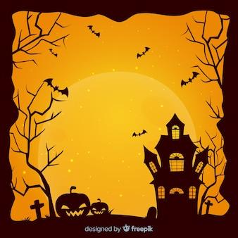 Cadre halloween effrayant avec style vintage