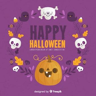 Cadre de halloween joyeux dessiné à la main