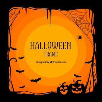 Cadre de halloween avec style classique