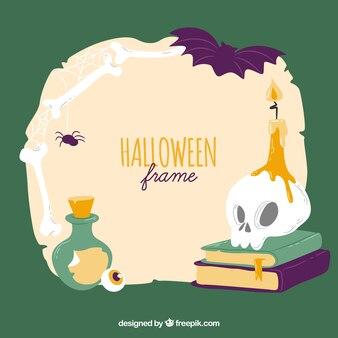 Cadre de halloween avec un style effrayant