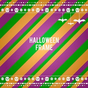 Cadre horizontal halloween