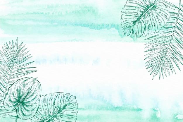 Cadre d'illustration de conception botanique délicate