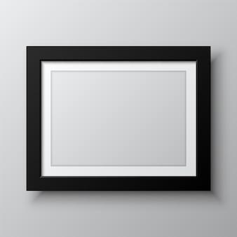 Cadre d'image vide horizontal isolé