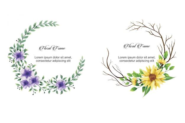 Cadre d'invitation de mariage fleur