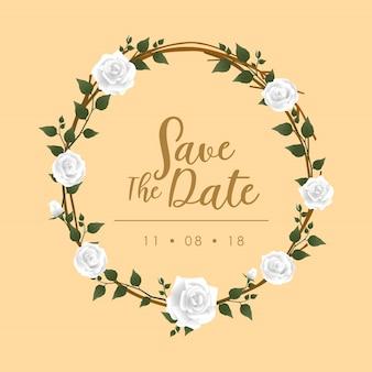 Cadre d'invitation de mariage rose