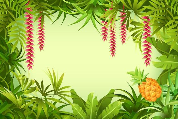Cadre de la jungle tropicale