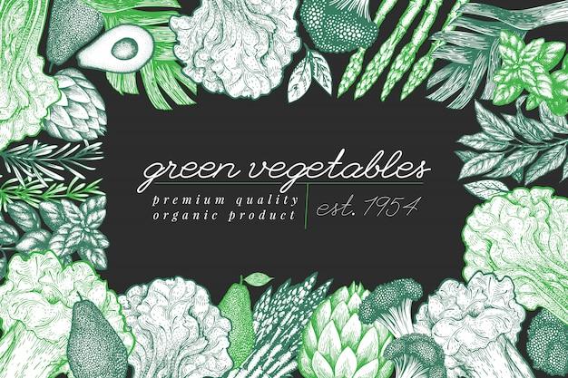 Cadre de légume vert