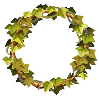Cadre de lierre couronne de branches de liane