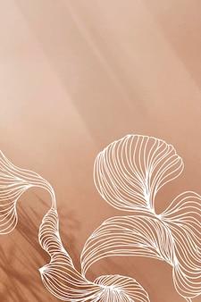 Cadre de ligne abstraite marron