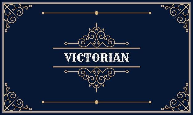 Cadre de logo ornemental vintage de luxe, tourbillons ornés calligraphiques et vignettes