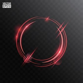 Cadre de lumière abstrait cercle rouge