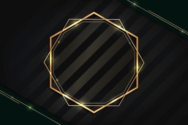 Cadre de luxe doré dégradé géométrique