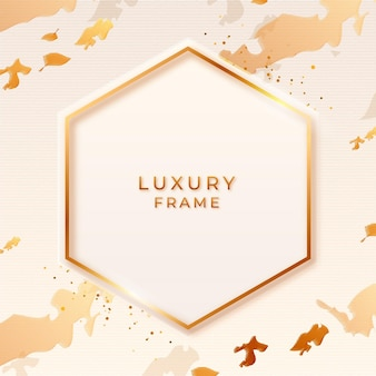 Cadre de luxe doré dégradé hexagonal