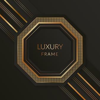 Cadre de luxe doré dégradé