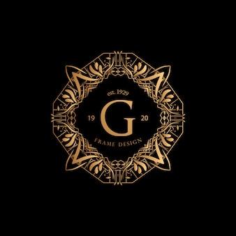 Cadre luxe avec logo doré