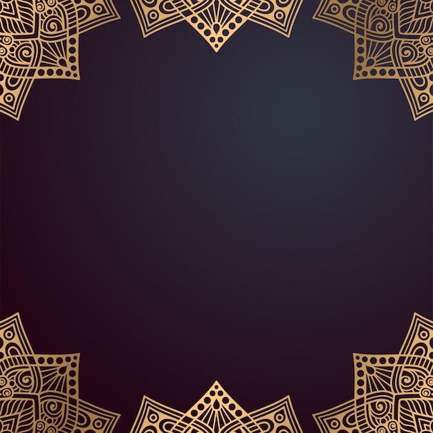 Cadre de mandala indien