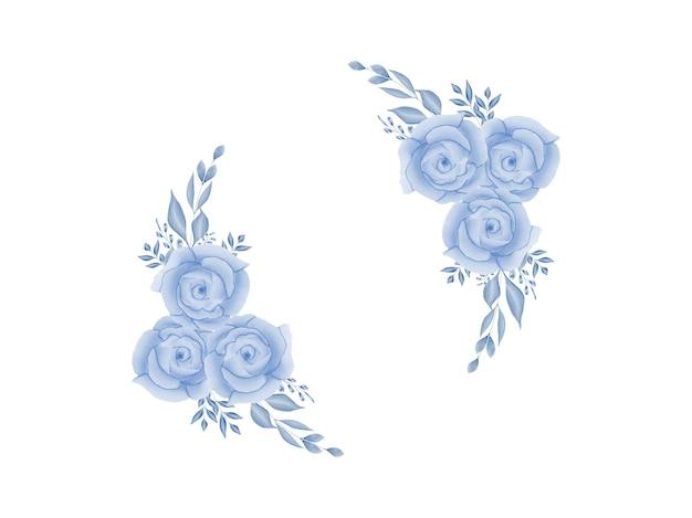 Cadre de mariage floral aquarelle fait à la main