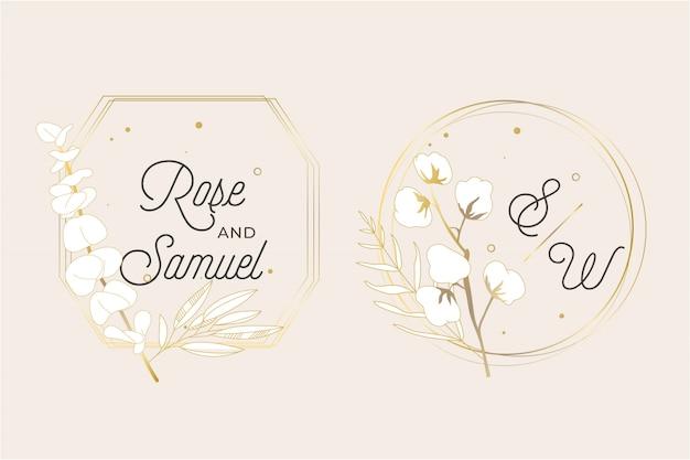 Cadre de mariage floral