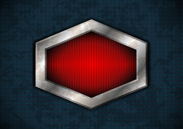 Cadre en métal hexagonal