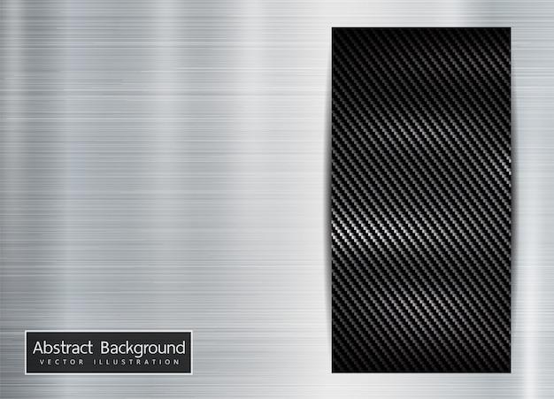 Cadre métallique abstrait carbone kevlar texture fond métallique