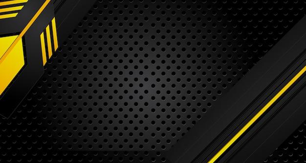Cadre métallique abstrait jaune orange noir design innovation concept mise en page