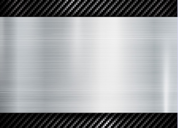 Cadre métallique abstrait sur kevlar en carbone