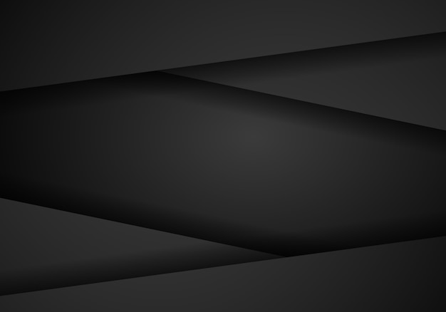 Cadre métallique abstrait noir moderne