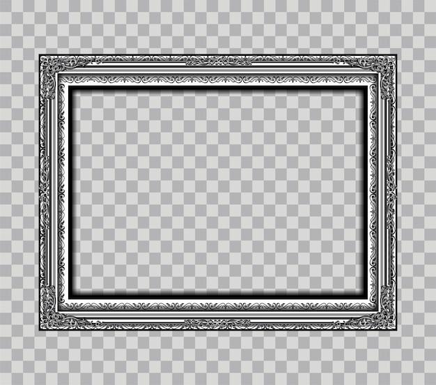 Cadre métallique isolé sur transparence