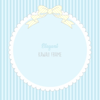Cadre mignon bébé garçon kawaii mignon avec motif sans couture rayures
