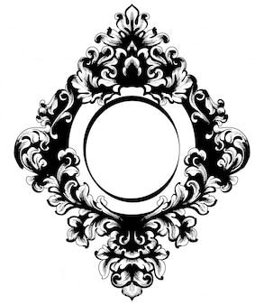 Cadre de miroir baroque vintage