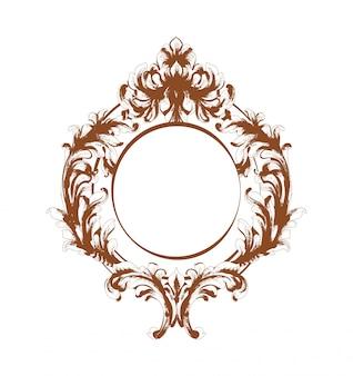 Cadre de miroir baroque