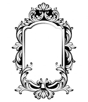 Cadre de miroir de luxe vintage