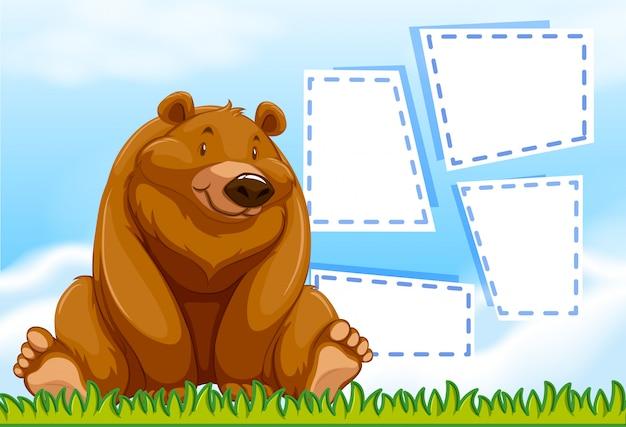 Cadre modèle ours brun