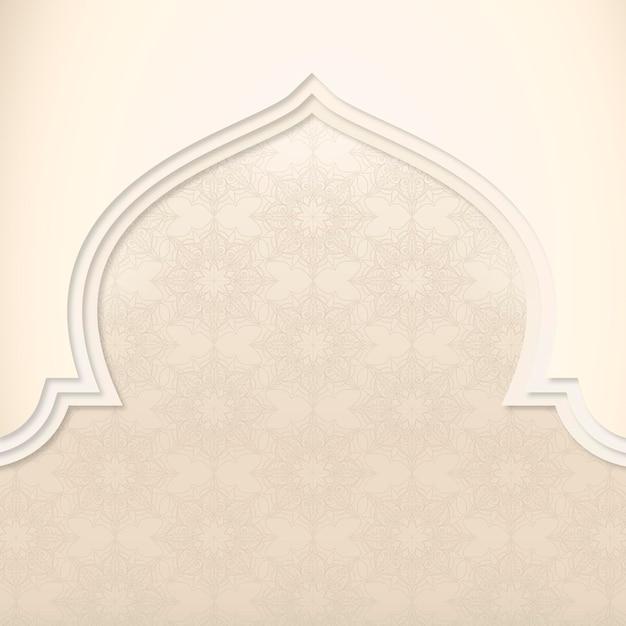 Cadre de mosquée à motifs beige