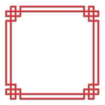 Cadre de motif chinois 3d, style de frontière art chinois