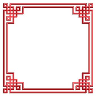 Cadre de motif chinois 3d