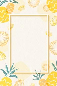 Cadre à motifs ananas