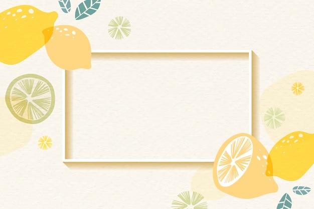 Cadre à motifs citron